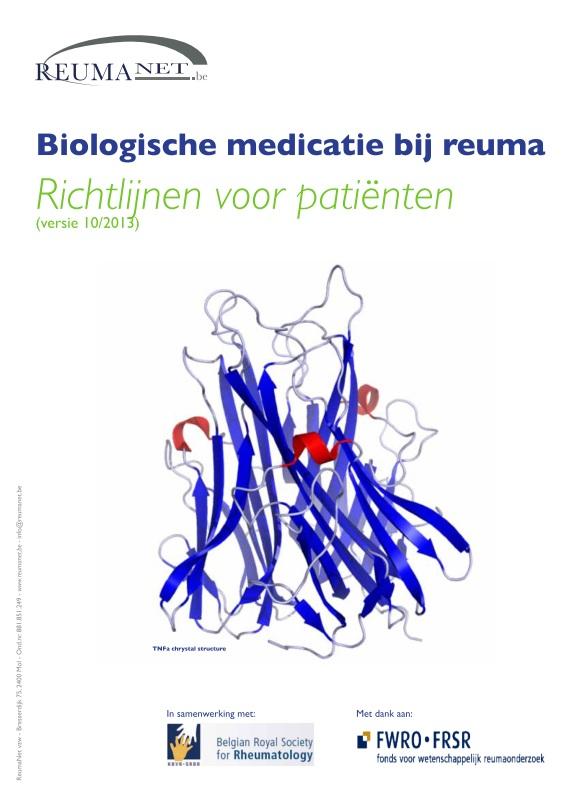 Brochure biologische medicatie bij reuma