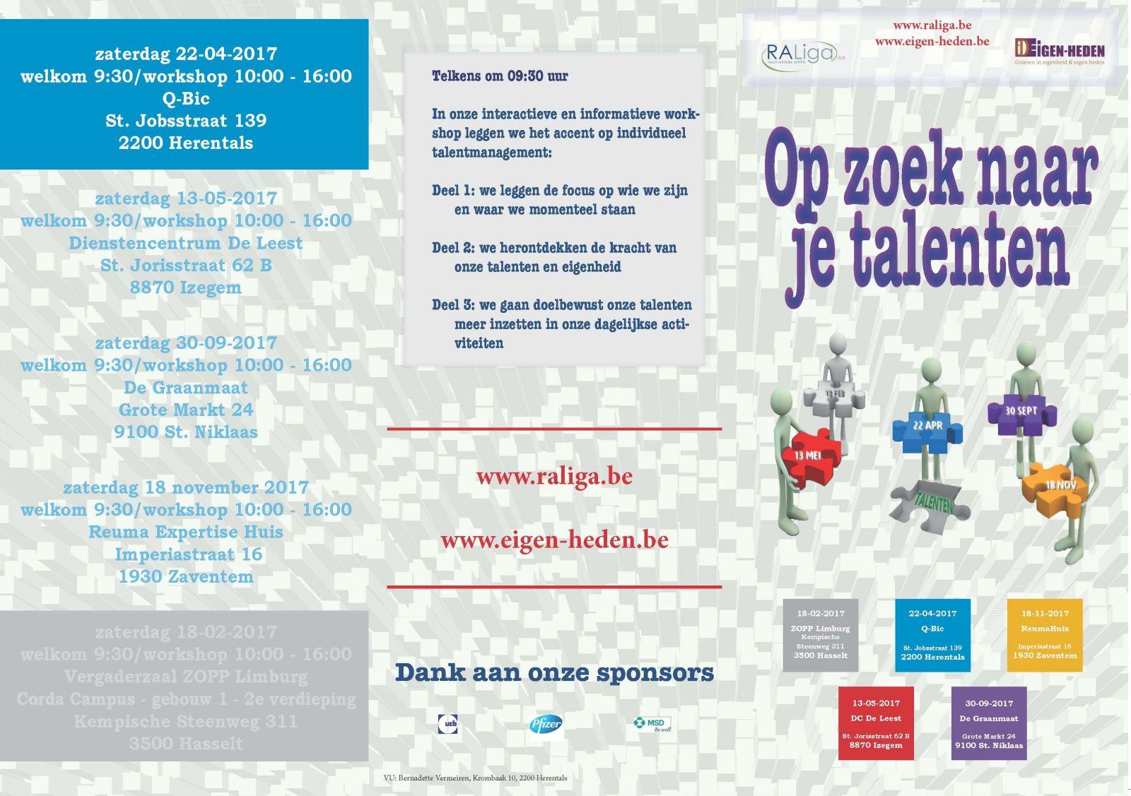OP ZOEK NAAR JE TALENTEN - workshop Herentals (folder)