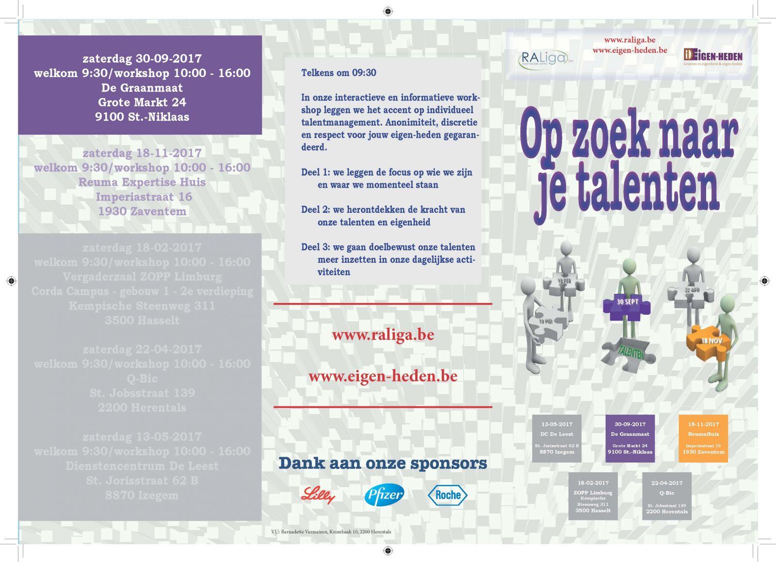 folder OP ZOEK NAAR JE TALENTEN Sint-Niklaas