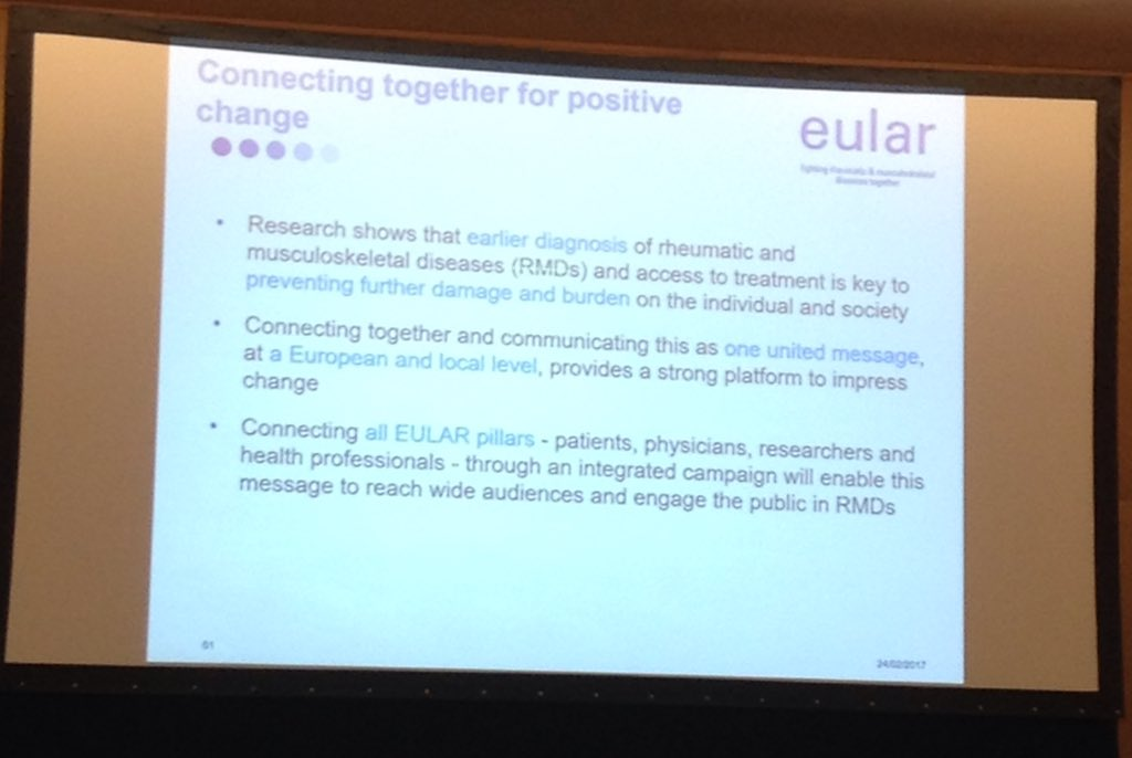 EULAR PARE CONGRES - Don't Delay, Connect Today