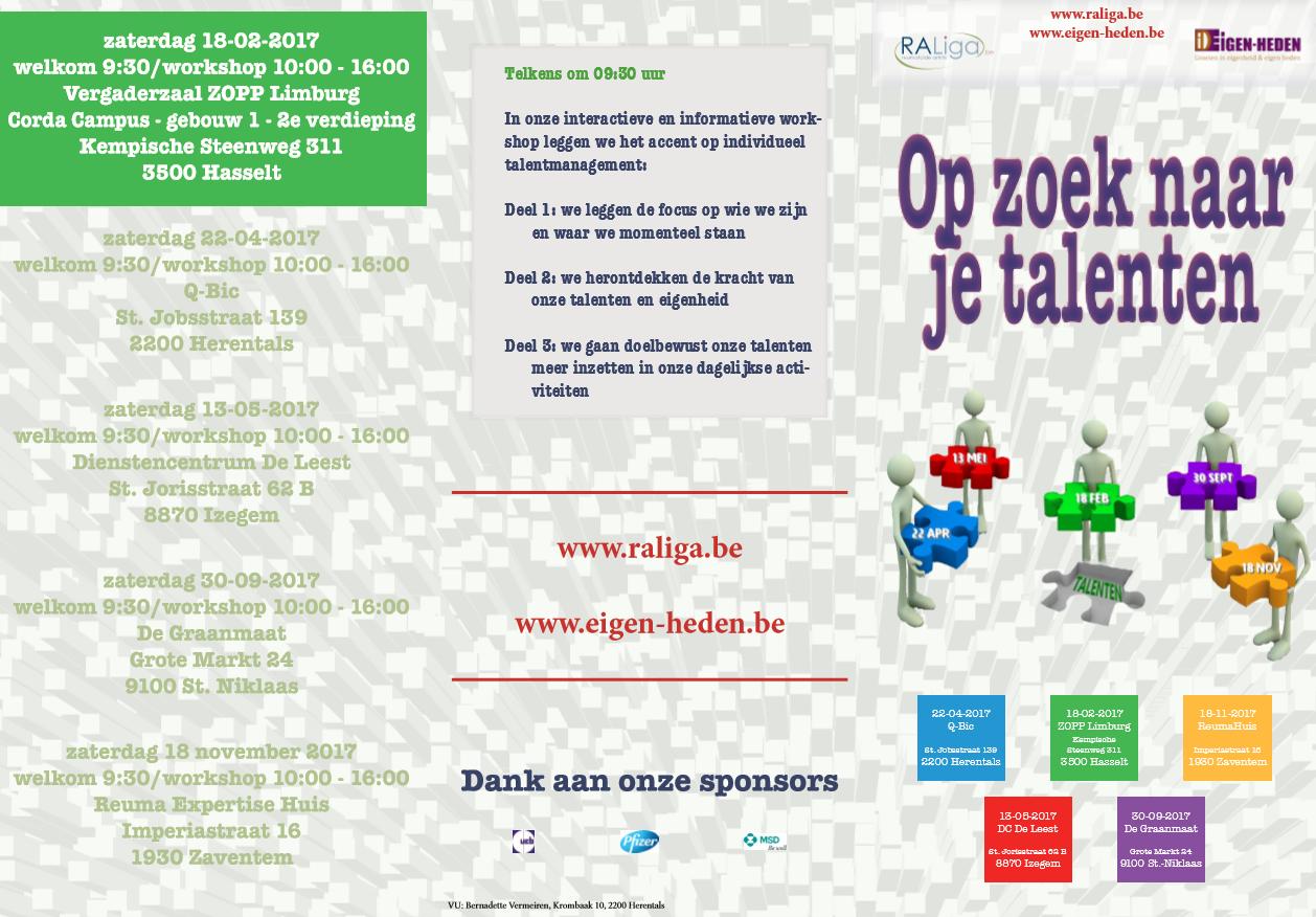 OP ZOEK NAAR JE TALENTEN - workshop Hasselt (folder)