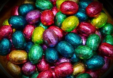 Vrolijk Pasen - donkere chocolade